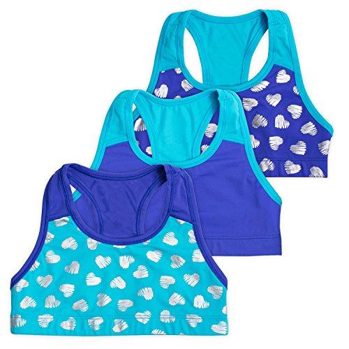 Lucky & Me Layla Racerback Crop Top, Gymnastics & Dancewear, Tagless, Wide Straps, 3-Pack