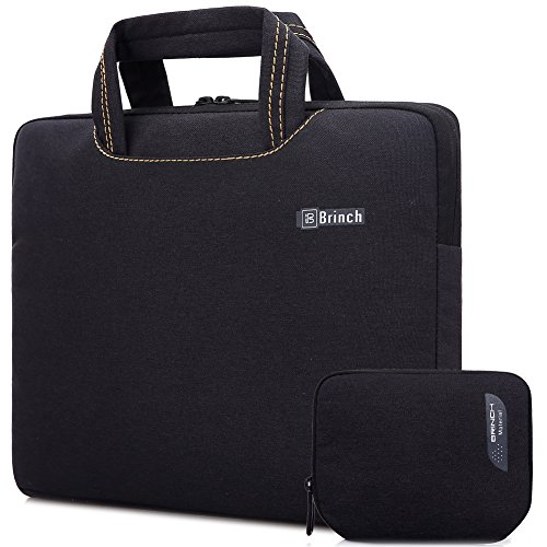 Brinch Universal Fabric Portable Anti-Tear 14 - 14.4 Inch Laptop Sleeve Case for Apple Macbook / Chromebook / Acer / Asus /Dell/Fujitsu/Lenovo/HP/Samsung/ Sony/Toshiba with Accessory Bag, Black