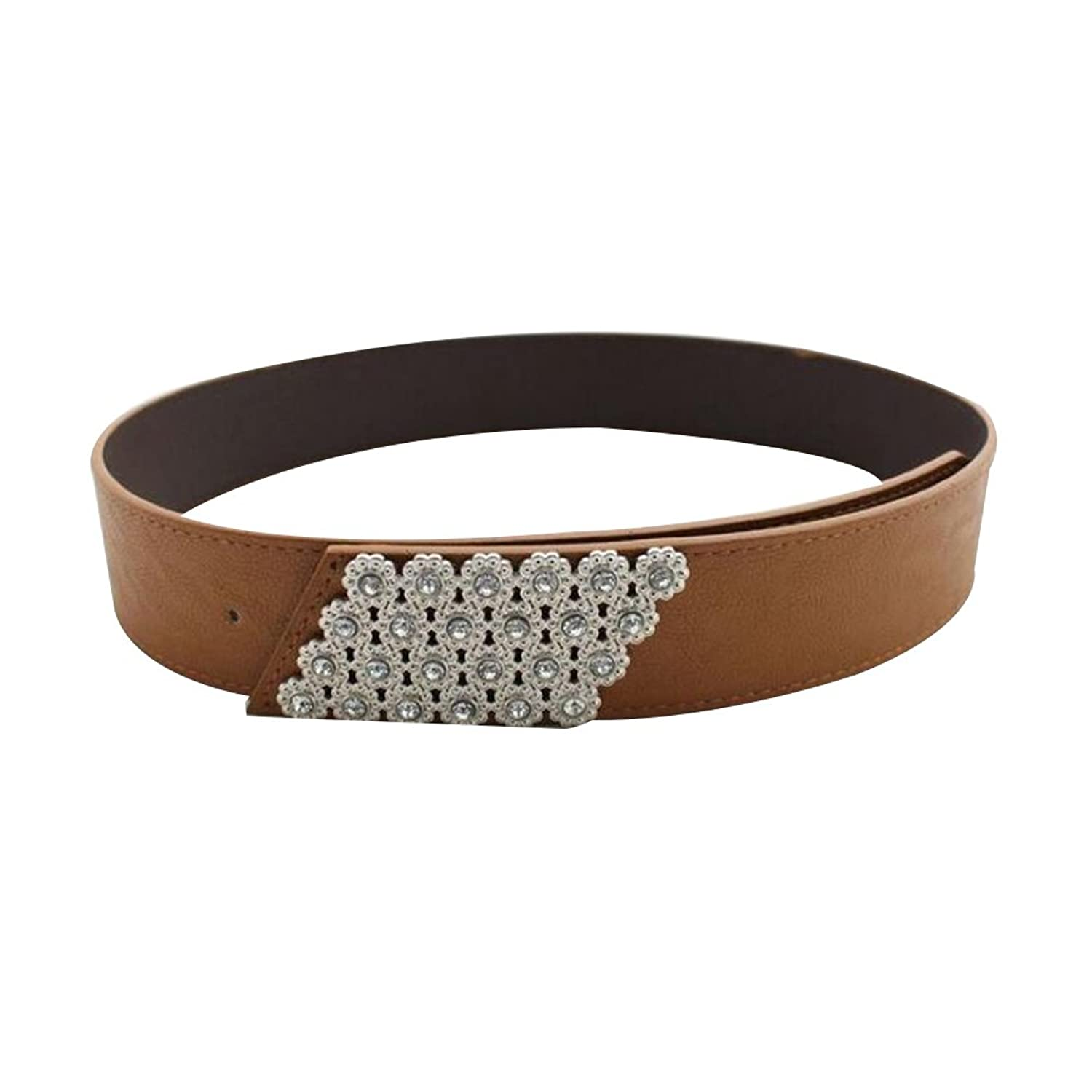 Sitong women's candy-colored diamond flower wide belt(5 colors)