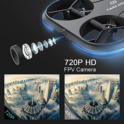 KAIDENG Card Drone K150 FPV RC Drones with Camera Live Video Quadcopter with HD WiFi Camera- Follow Me, Altitude Hold, Optical Flow Positioning - World's Thinnest Drone