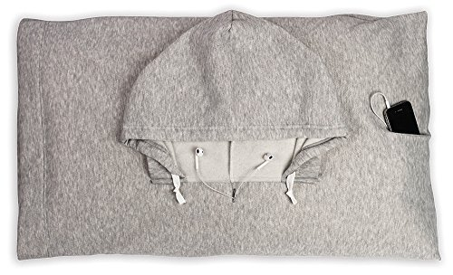 Hoody Case (HoodiePillow Hooded Pillowcase - Gray)