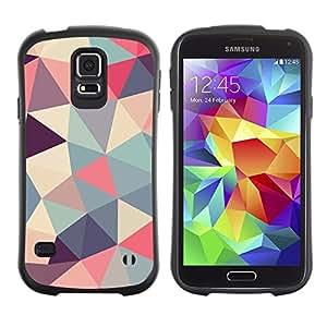 Suave TPU GEL Carcasa Funda Silicona Blando Estuche Caso de protección (para) Samsung Galaxy S5 / CECELL Phone case / / polygon triangle pattern poly art pattern /
