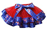 Petitebella Dress Red 4 Layer 4th July Hat Glasses Ribbon Girl Petal Skirt Nb-8y (6-8 Years)
