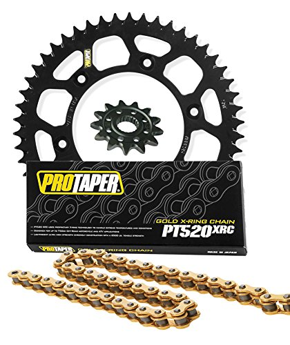 Pro Taper Front & Rear Sprockets & PT520XRC X-Ring Chain Kit - 13/50 BLACK - KTM 125-500 EXC/MXC/SX/SXF/XC/XCF/XCW by Seismic Cycles