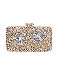 Fawziya Rhinestone Clutch Bag Baguette Purse Handbag