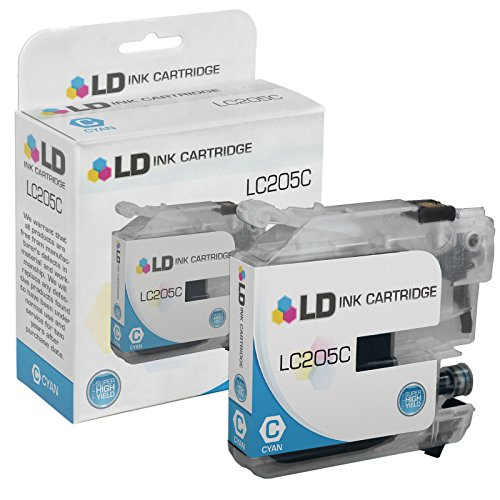 LD © Compatible Replacement for Brother LC205C Extra High Yield Cyan Inkjet Cartridge for use in Brother MFC J4320DW, J4420DW, J4620DW, J5520DW, J5620DW, and J5720DW Printers