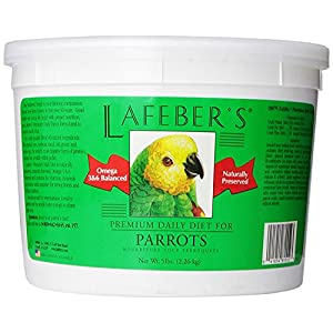 LAFEBER'S Premium Daily Diet Pellets Pet Bird Food, Made with Non-GMO and Human-Grade Ingredients, for Parrots, 5 lbs 56