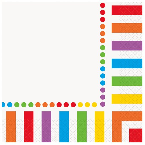 Rainbow Party Napkins, 16ct