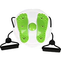 BESPORTBLE Fitness Board Workout Balancing Board Waist Twister Disc Trainer Board Fitness Twister with Resistance Bands (Green)