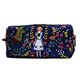 LParkin Girl Students Super Large Capacity Canvas Pencil Case Pen Bag Pouch Stationary
