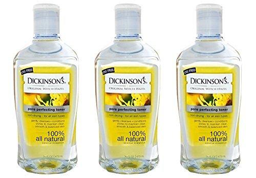 (Dickinsons Original Witch Hazel Pore Perfecting Toner 16 fl. oz. (Pack of 3))