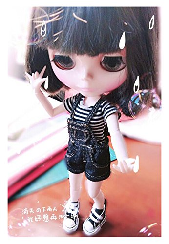 [hqclothingbox 1/6 Black Strap Jumpsuit for BJD Blythe Dolls Clothes Accessories] (Tuxedo Mask Costume Sale)