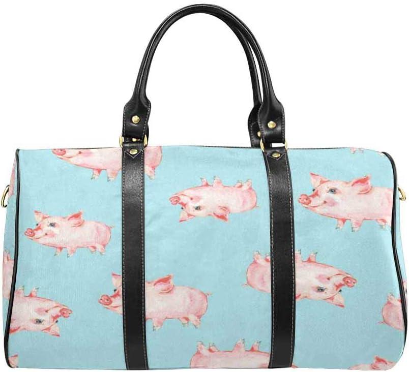 Flight Bag Gym Bag Cute Piggy InterestPrint Large Duffel Bag