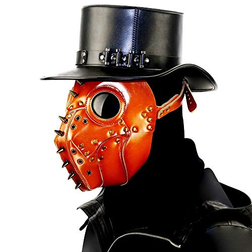 - MARYYUN Plague Bird Doctor Mask, Goggles Gothic Mask, Steampunk Mask Masquerade, Halloween Props Handmade Leather Multi-Style Shoulder Bag (Color : 1)
