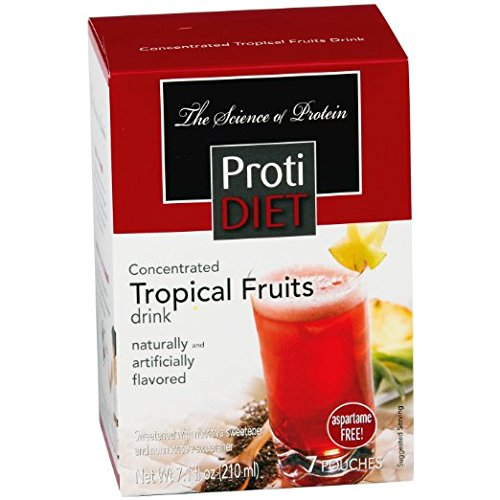 Proti Diet Concentrated Drink Mix (7 servings) (Tropical Fruits, 7 Servings)
