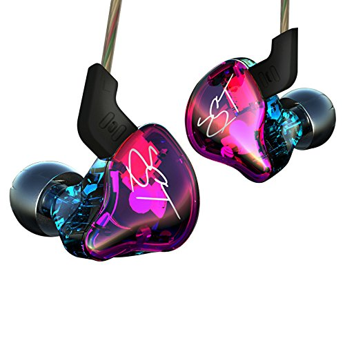 KZ ZST Dynamic Hybrid Dual Driver in Ear Earphones (Colorful Without Mic) -