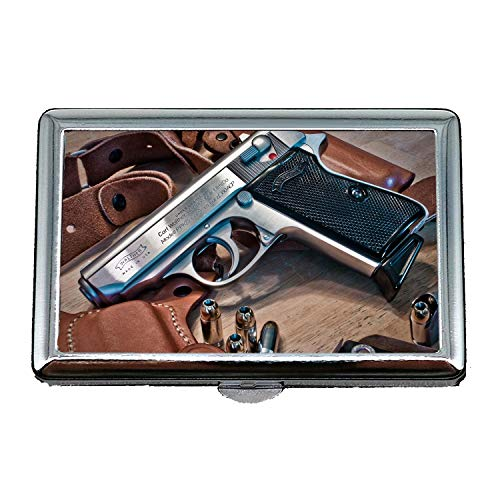 Cigarette case Holder,Gun and Knife Show,Cigarette Holder Case,All Gun,Business Card Holder Business Card Case Stainless