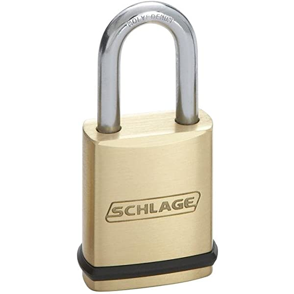New Schlage KS43D2300 Brass Padlock   23 Series NIB FREE SHIPPING!!