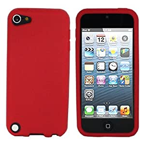 ASleek Red Soft Silicone Rubber Case Cover for Apple iPod Touch 5th Generation 5G + ASleek Microfiber Cloth