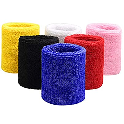 SUMAJU Wrist Sweatband Pieces Sports Wristbands Basketball Football Gym Cotton Cloth Wrist Band Estimated Price -