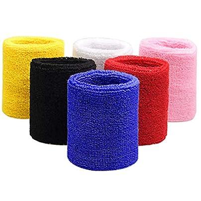 SUMAJU Wrist Sweatband Pieces Sports Wristbands Basketball Football Gym Cotton Cloth Wrist Band Estimated Price -