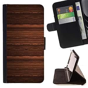 - BROWN WALLPAPER IMITATION WOOD DESIGN - - Prima caja de la PU billetera de cuero con ranuras para tarjetas, efectivo desmontable correa para l Funny HouseFOR Sony Xperia Z1 Compact D5503