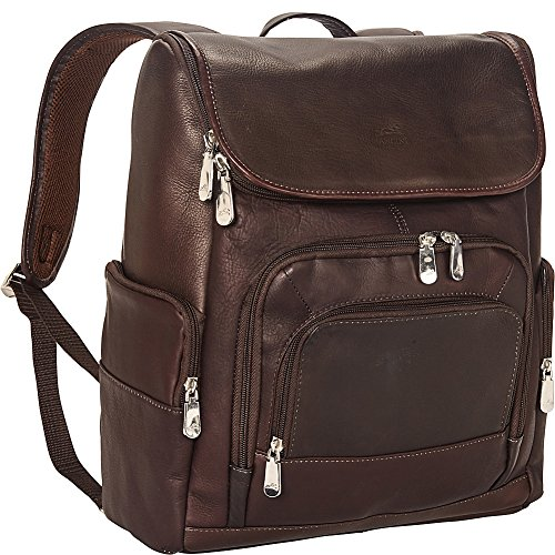Mancini Leather Goods Columbian 15.6'' Laptop Backpack with RFID Secure Pocket by Mancini Leather Goods