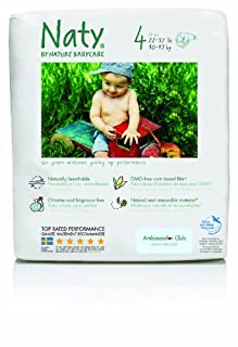 Nature Babycare Chlorine-Free ECO Diapers Size 4 (22-37lbs) (Pack of 4)