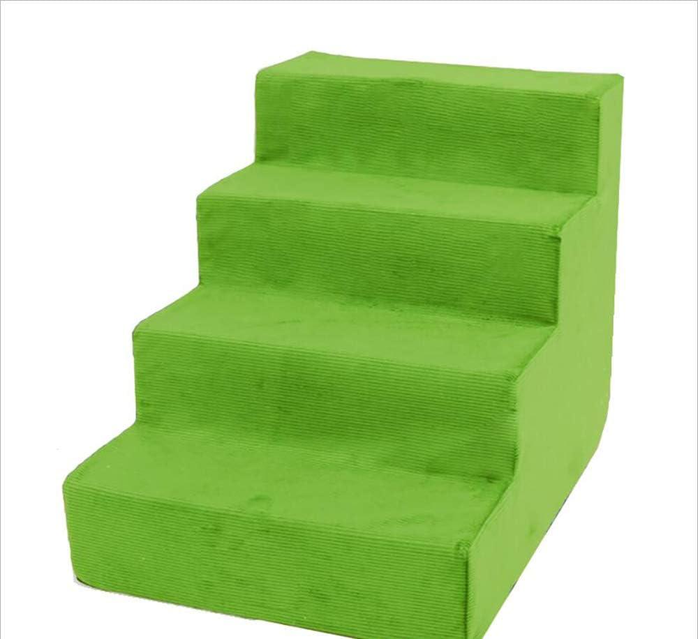 MODYL Escalera De Pet Escaleras De Perro De Gato Escaleras De Peluche Lavable Escalera Escaleras Cama Escalada,Greenwaterproof: Amazon.es: Hogar