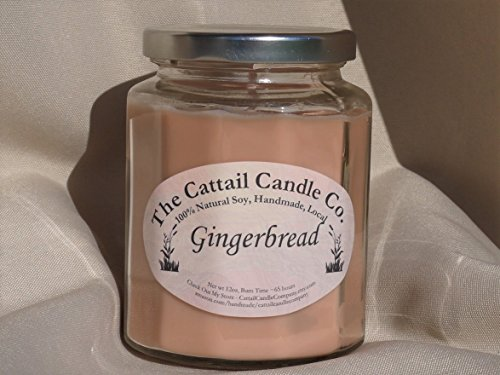 Cattail Candle (Gingerbread - 100% Soy Candle, 12 fl oz)