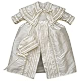 Heirloom Baby Boy's Christening Baptism Gown, Hand Made Ivory (Burbvus Ropones)