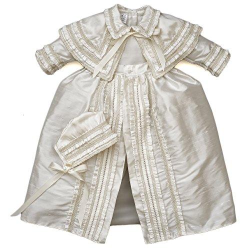 Heirloom Baby Boy's Christening Baptism Gown, Hand Made Ivory (Burbvus Ropones) by Burbvus (Image #10)