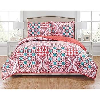 Amazon Com Fancy Linen 3pc Full Queen Bedspread Quilt Set