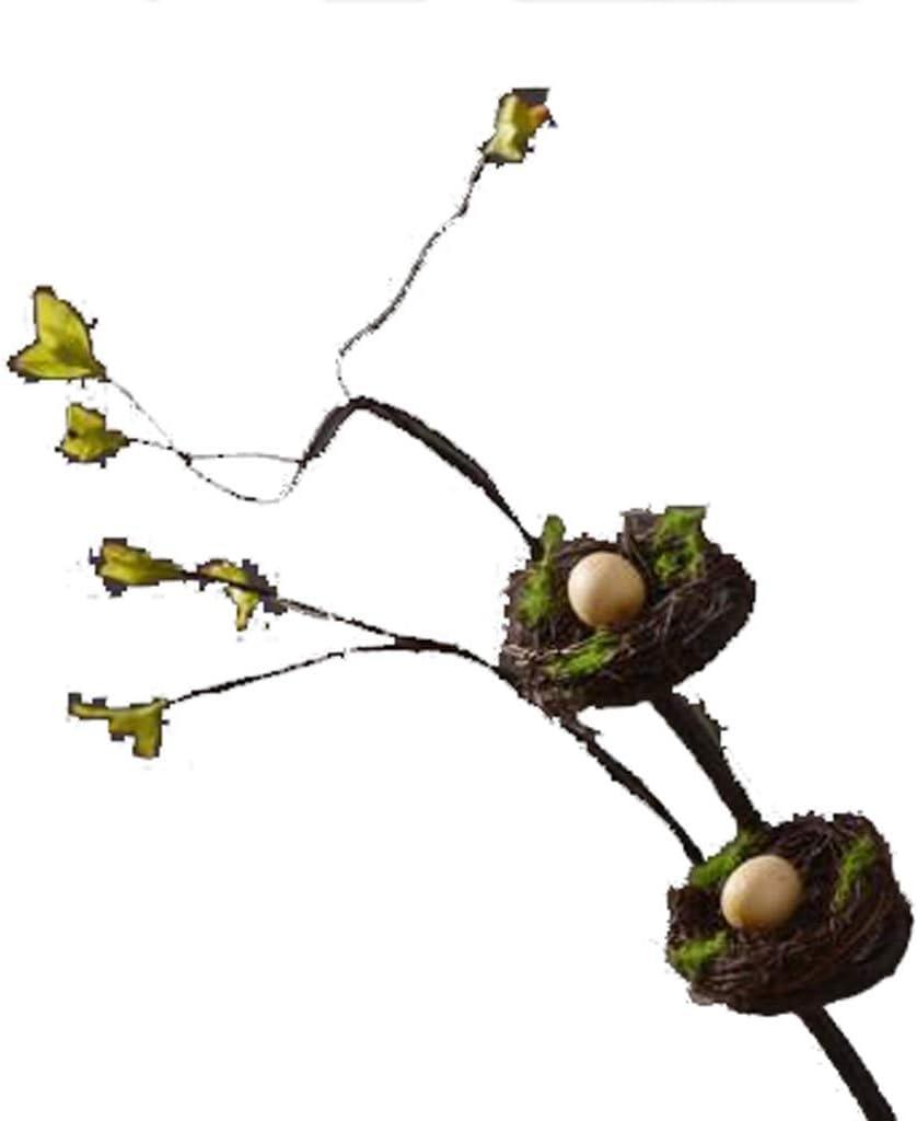 XXT - Juego de mesa de comedor con flores artificiales, diseño de nido de pájaro