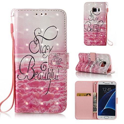 Samsung Galaxy S7 Edge Custodia, JEPER Pu Pelle Portafoglio Bookstyle Flip Cover Stand Case con chiusa Magnetica Protettiva in pelle per Galaxy S7 Edge 09