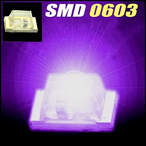 50 pcs SMD SMT 0603 Super bright BLUE LED lamp Bulb GOOD QUALITY AHS