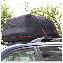 AUTVIVID Car Cargo Carrier-Waterproof Rain and Dust Bag Oxford Cloth Folding Roof -Car Roof Bags Soft-shell Carriers Black