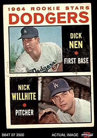 06d9d020118 1964 Topps   14 Dodgers Rookies Dick Nen   Nick Willhite Los Angeles Dodgers  (Baseball