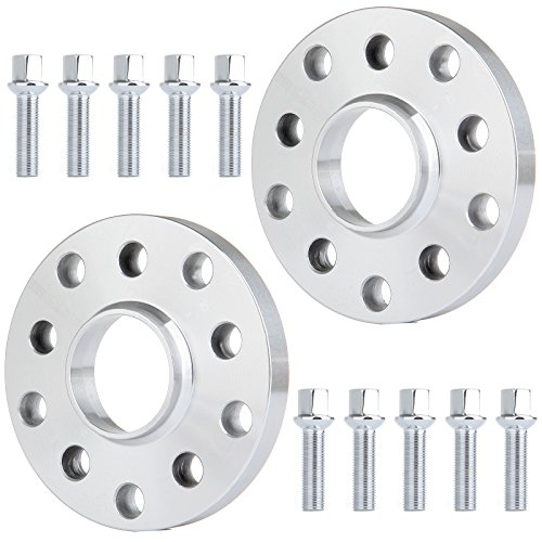 ECCPP replacement parts 5 lug Wheel Spacer Adapters 5x100 & 5x112 mm 2X 17mm fits for Audi A3 A5 A6 A8 S3 S4 S6 S8 RS4 RS6 with 14x1.5 studs ()