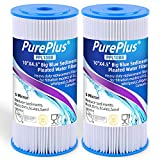"""5 Micron 10"""" x 4.5"""" Whole House Big Blue Pleated Sediment Water Filter Replacement Cartridge Compatible with DuPont WFHDC3001, GE FXHSC, Culligan R50-BBSA, Pentek R50-BB, W50PEHD, GXWH40L, 2-Pack"""