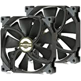 Phanteks PH-F140SP Case Fan - Black Frame/Black Blades 2 Pack