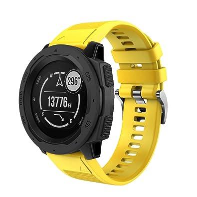 Gusspower para Correa Garmin Instinct,Banda de Reloj de liberación rápida de Silicona Deportiva Pulsera Brazalete Ajustable Reemplazo diseñado único único: ...