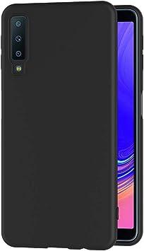 AICEK Coque Samsung Galaxy A7 2018, Noir Silicone Coque pour Samsung A7 2018 Housse Redmi 6 Noir Silicone Etui Case (A750 6,0 Pouces)