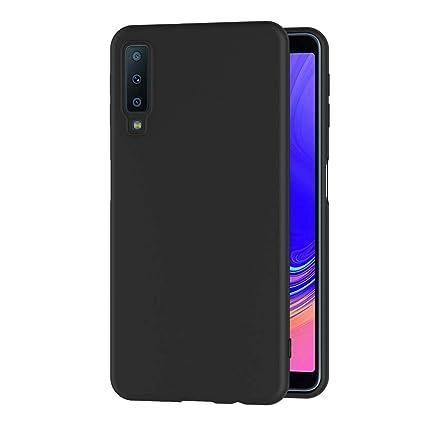AICEK Funda Samsung Galaxy A7 2018, Negro Silicona Fundas para Samsung A7 2018 Carcasa Galaxy A7 2018 Negro Silicona Funda Case (6,0 Pulgadas)