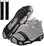 AGOOL Ice Cleats Traction Cleats Ice Grip Snow Grippers Non-Slip Over Shoe Rubber Spikes Crampons Anti Slip Crampons Stretch
