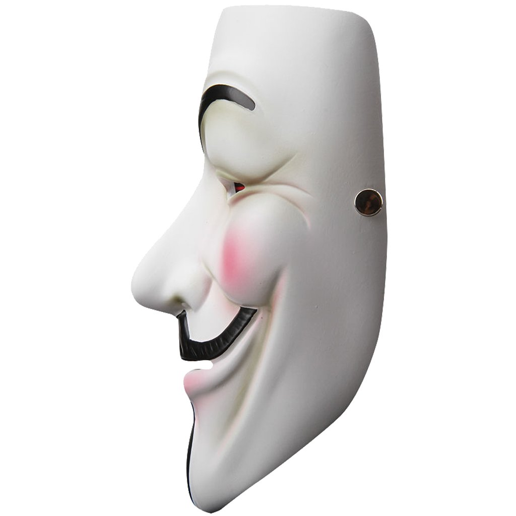 V for Vendetta Anonymous Guy Fawkes Resin Cosplay Mask Party Costume Prop Toys White by ZLLJH (Image #2)