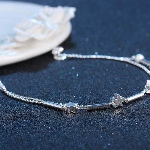 Vi.yo Anklet Five-pointed Stars Anklet Bracelet Sandal Beach Barefoot Foot Jewelry for Women