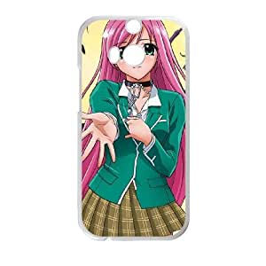 HTC One M8 White Rosario + Vampire phone case Christmas Gifts&Gift Attractive Phone Case HLN5A0224237