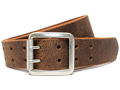 [Nickel Free Ridgeline Trail Distressed Belt (Brown) (36