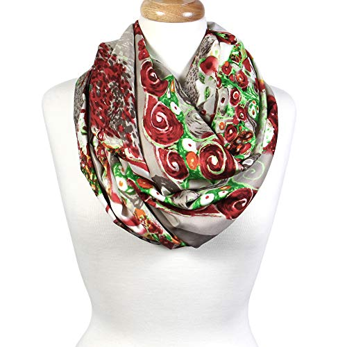 Scarfand's Mixed Color Oil Paint Infinity Versatile Fashion Scarf Head Wrap (Expressionism Tan) ()